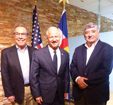 Tony Bottagaro, Congressman Coffman, and Gil Cisneros