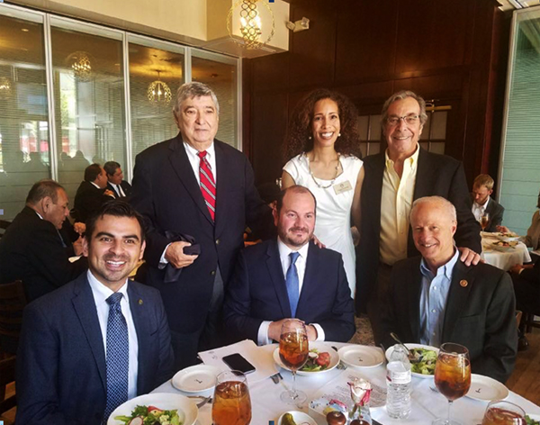 Gil Cisneros, Tony Bottagaro and guest speakers at COTA's August, 2017 Executive Forum