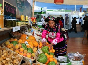 Woman in Peruvian Market