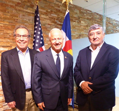 Tony Bottagaro, Congressman Coffman, and Gil Cisneros